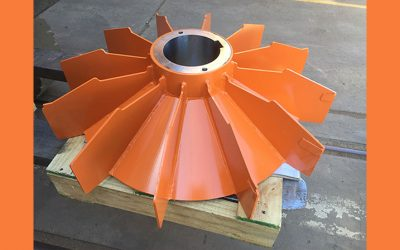 Gearbox Cooling Mining Industry Radial Blade Impeller Fans